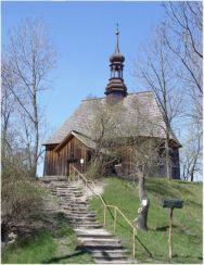 Chotelek Zielony (gm. Busko-Zdrój, powiat buski) – modrzewiowy kościół p.w. św. Stanisława bpa z 1527 r.